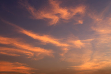 Sunset red sky and clouds backgrounds.