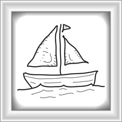 Simple doodle of a sail boat