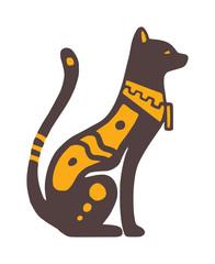 Egypt cat vector illustration
