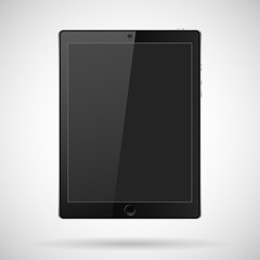 tablet with buttons, a camera on a gray background and shadow.Tablet Vector.Tablet-JPEG.Tablet Picture.Tablet Image.Tablet Graphic.Tablet JPG.Tablet EPS10.Tablet AI.Tablet Drawing.Vector illustration.