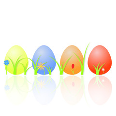 Easter eggs . Vector illustration .
