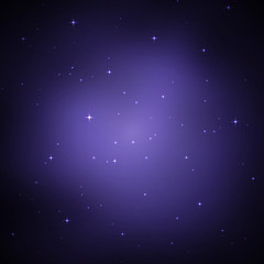 Night sky with stars. Vector illustration .