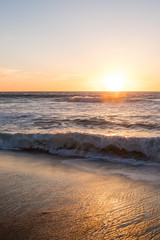 Keuken foto achterwand Grijs Sunset over ocean