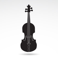Fiddle - music vector icon.