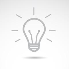 Idea bulb icon. Vector art.