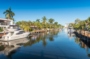 Beautiful canal of Fort Lauderdale, Florida