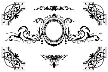Old style vector background