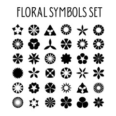 Flower symbols set