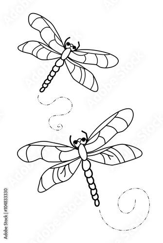 Libellen Malvorlage Stockfotos Und Lizenzfreie Bilder Auf Fotolia
