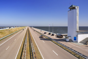 The 'Afsluitdijk' in The Netherlands