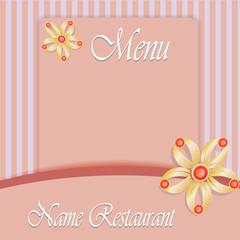 Menu design. Jewelry menu. Restaurant menu template.