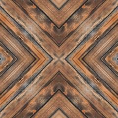 Wooden board floor x-cross seamless background