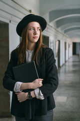 Portrait of a student standing