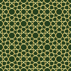 Moroccan gold seamless
