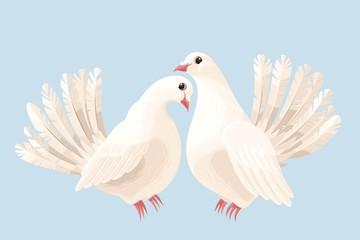 Couple of white doves