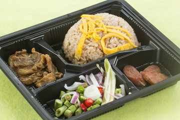 Fired Rice with shrimp paste in box set