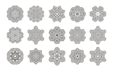 Round geometric ornament