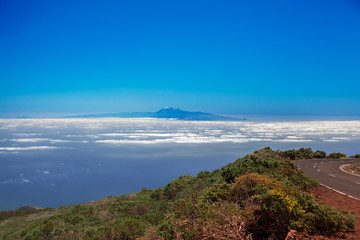 Tenerife view from the La Palma, Spain