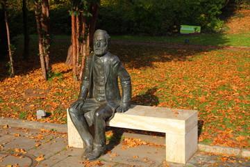 Jena, Thüringen, Ernst Abbe Statue,