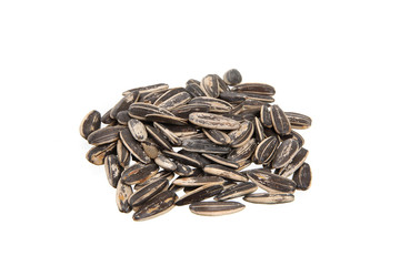 sunflower seeds isolated in white background