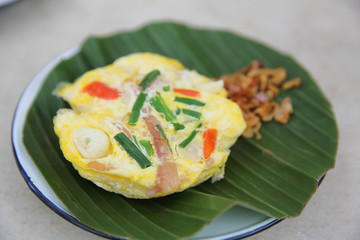 fermented pork with egg in north thai style