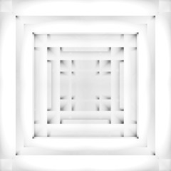 Abstract illustration, white geometric background