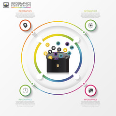 Circle infographic. Template for diagram, graph, presentation. Vector