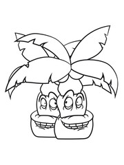 2 comic cartoon funny sweet small cute palm face, grinning monster