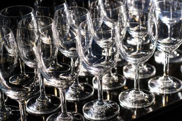 Wine Glasses. Selective focus