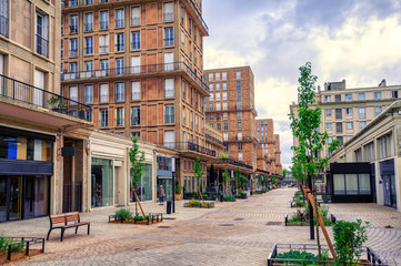 Central street of Le Havre, Normandy, France