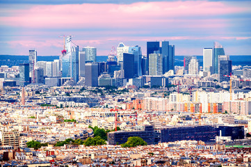 Skyline of La Defense, Paris, France