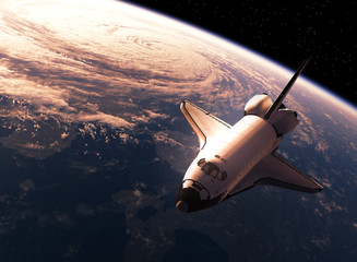 Space Shuttle Orbiting Eart