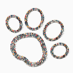 people  animal track icon
