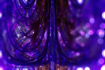 Abstract violet background defocused lights.