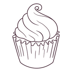 Illustration of fairy cupcake