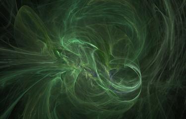 green cloud fractal background