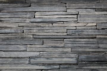 Wall Mural - Black brick wall for pattern