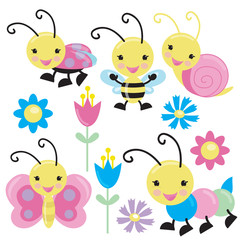 Cute insect vector illustration