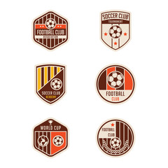 Set of Soccer Football Badge Logo Design Templates. Sport Team I