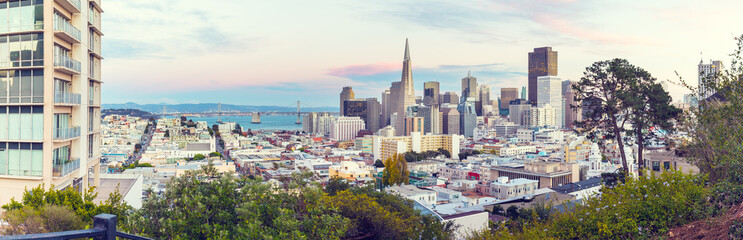 cityscape and skyline of san francisco in USA
