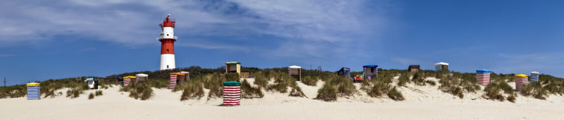 Wall Mural -  Panorama am Strand Borkum