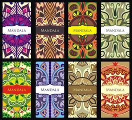 Banners with mandala pattern.Mandalas collection.