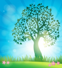 Spring topic background 3