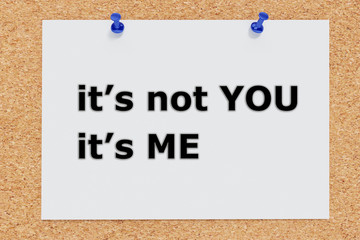 It's not You It's Me concept