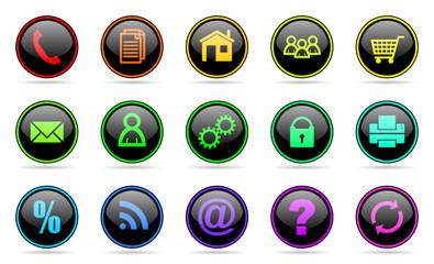 business vector web icons set