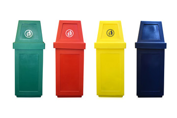 4 Recycle bin isolate on white background