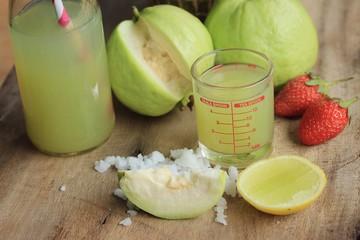 fresh guava fruit juice