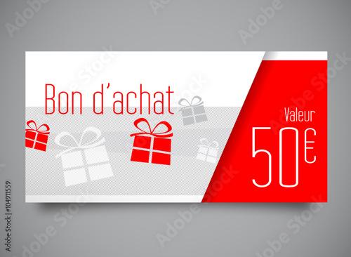 Bon d 39 achat de 50 euros fichier vectoriel libre de for Bon d achat id garage