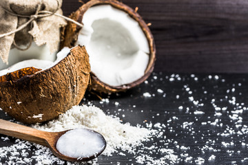 Coconut and coconut oil for alternative therapy and cooking