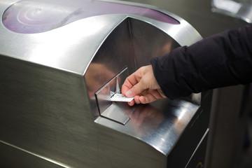 Ticket de métro contôle